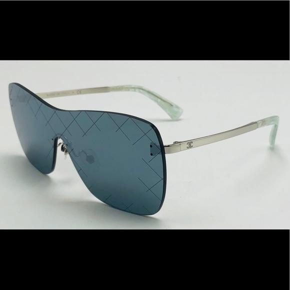 0e799dddcec081 CHANEL Accessories | New Shield Crosshatch Rimless Sunglasses | Poshmark